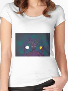 Mother Moon and Sun Women's Fitted Scoop T-Shirt