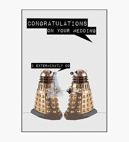 Dalek Wedding Photographic Print