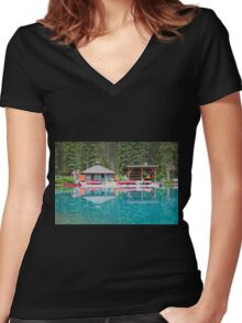 Lost In The Moment Women's Fitted V-Neck T-Shirt