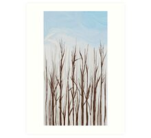 Trees in Winter Art Print