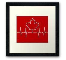 Canada Pulse Framed Print