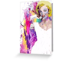 Painted Marilyn Greeting Card
