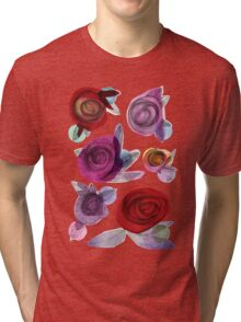 colors filled with roses Tri-blend T-Shirt