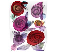 colors filled with roses Poster