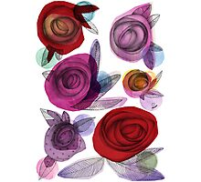 colors filled with roses Photographic Print