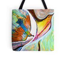 rainbow honey bee eater bird Tote Bag