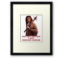 Addison Carver Framed Print