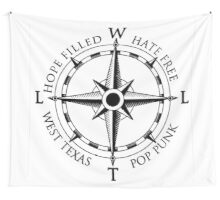 Compass Flag - White Wall Tapestry