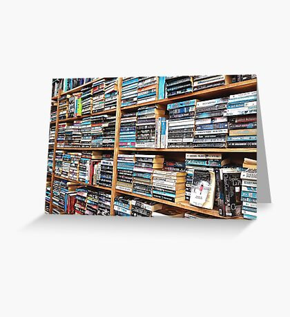 You can never have too many books. Greeting Card