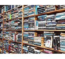 You can never have too many books. Photographic Print