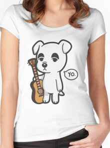 Animal Crossing's K.K. Slider with Guitar Women's Fitted Scoop T-Shirt