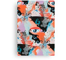 SQUIGGLY GRAPHIC Canvas Print