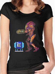 Retro Metroid Samus Arana Nintendo Women's Fitted Scoop T-Shirt