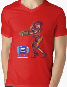 Retro Metroid Samus Arana Nintendo Mens V-Neck T-Shirt