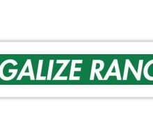 Legalize Ranch - Green - Eric Andre - Supreme font Sticker