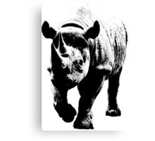 Half Tone Rhinoceros Canvas Print