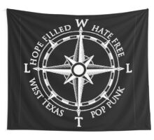 Compass Flag - Black Wall Tapestry