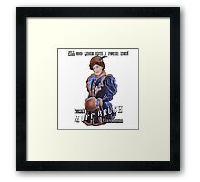 Pucker's Muff Brush Extraordinaire Framed Print