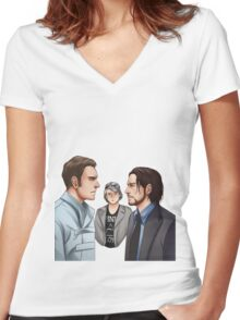 X-men - Days of Future Past Women's Fitted V-Neck T-Shirt