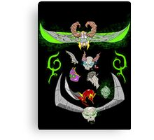 Demon Hunter and their Prey Canvas Print