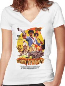 Black Dynamite 1 Women's Fitted V-Neck T-Shirt
