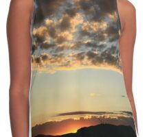 Sunset over Sleeping Giant Contrast Tank