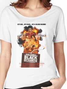 Black Dynamite 2 Movie Poster Women's Relaxed Fit T-Shirt