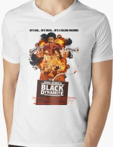Black Dynamite 2 Movie Poster Mens V-Neck T-Shirt