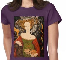 The Lady and the Cat Womens Fitted T-Shirt