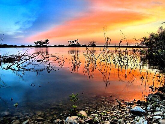 Sunrise Over Lake Texoma by aprilann
