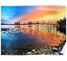 Sunrise Over Lake Texoma Poster