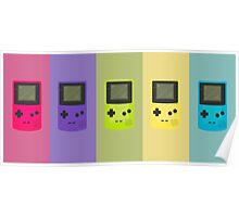 Game Boy Colors Poster