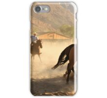 Cowboys and horses iPhone Case/Skin