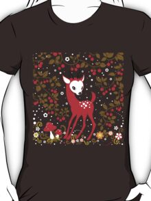 Cute Little Deer under Cherry Tree. T-Shirt