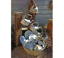 Washing Dishes - Country Style Photographic Print