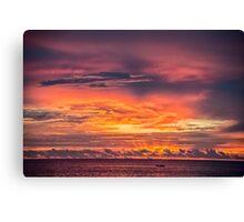 Vivid Sunset at Truk Lagoon Canvas Print
