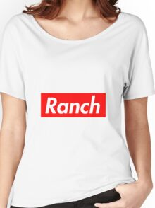 Ranch - Red - Eric Andre - Supreme font Women's Relaxed Fit T-Shirt