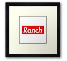 Ranch - Red - Eric Andre - Supreme font Framed Print