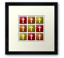 Colorful Christian Crosses Framed Print