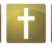 Colorful Christian Crosses Sticker
