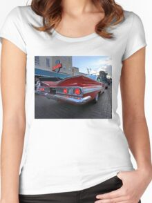 1960 Chevy Impala on Beale Street Women's Fitted Scoop T-Shirt