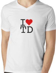 I (heart) TD Mens V-Neck T-Shirt