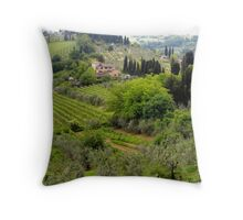 Italian Countryside Throw Pillow