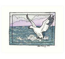 Snow Goose Watercolor Art Print