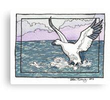 Snow Goose Watercolor Canvas Print