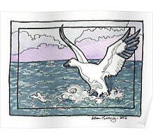 Snow Goose Watercolor Poster