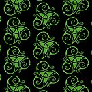 Spiral Celtic Tri Knot in Green by ingridthecrafty