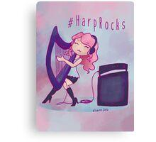 #HarpRocks Canvas Print