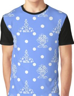 Topiary and Polka Dot Toile Graphic T-Shirt