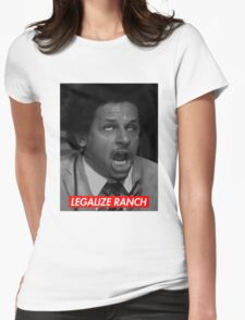 Legalize Ranch - Red - Eric Andre Picture - Supreme font Womens Fitted T-Shirt